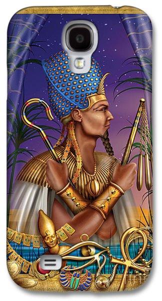 Jester Digital Art Galaxy S4 Cases - Egyptian Triptych Variant I Galaxy S4 Case by Ciro Marchetti