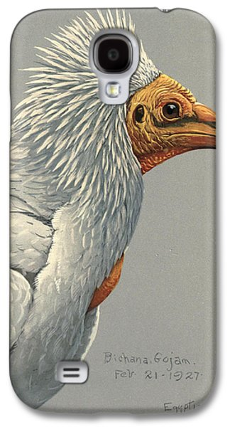 1874 Galaxy S4 Cases - Egyption Vulture Galaxy S4 Case by Louis Agassiz Fuertes