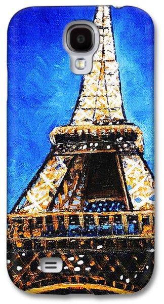 Landmark Galaxy S4 Cases - Eiffel Tower Galaxy S4 Case by Anastasiya Malakhova