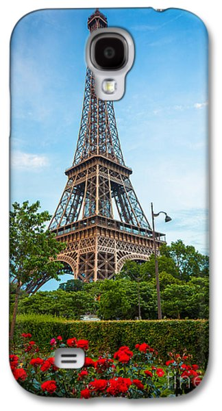 Europa Galaxy S4 Cases - Eiffel Tower and Red Roses Galaxy S4 Case by Inge Johnsson