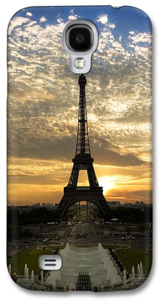 Eiffel Tower At Sunset Galaxy S4 Case by Debra and Dave Vanderlaan