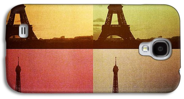 Dream Scape Galaxy S4 Cases - Eiffel Tower in Sunset Galaxy S4 Case by Marianna Mills