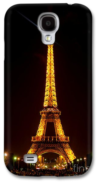 Visitor Galaxy S4 Cases - Eiffel Tower Night Galaxy S4 Case by Olivier Le Queinec