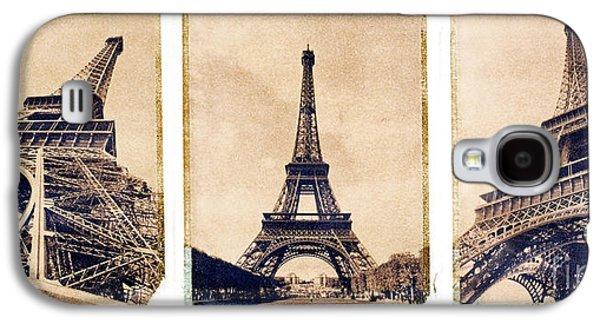 Brown Tones Galaxy S4 Cases - Eiffel Tower Galaxy S4 Case by Tony Cordoza