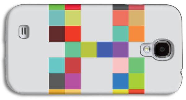 Color Block Galaxy S4 Cases - Eight bit Galaxy S4 Case by Budi Satria Kwan