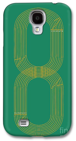 Running Digital Galaxy S4 Cases - Eight Track Runners Never Quit Galaxy S4 Case by Budi Kwan