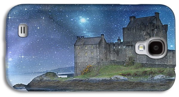 Photomanipulation Galaxy S4 Cases - Eilean Donan Castle Galaxy S4 Case by Juli Scalzi