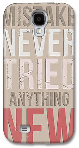 Einstein Drawings Galaxy S4 Cases - Einstein quote - A person who never Galaxy S4 Case by Pablo Franchi