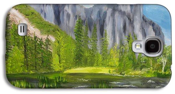 El Capitan Paintings Galaxy S4 Cases - El Capitan and the River Galaxy S4 Case by Sally Jones