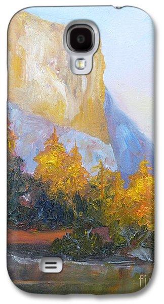 El Capitan Paintings Galaxy S4 Cases - El Capitan Light Galaxy S4 Case by Carolyn Jarvis