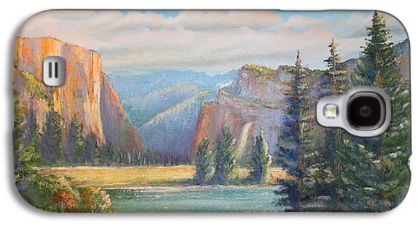 El Capitan Paintings Galaxy S4 Cases - El Capitan  Yosemite National Park Galaxy S4 Case by Remegio Onia