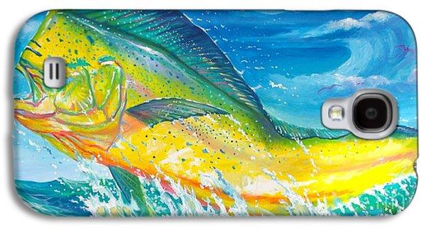 Shark Paintings Galaxy S4 Cases - El dorado Galaxy S4 Case by Yusniel Santos