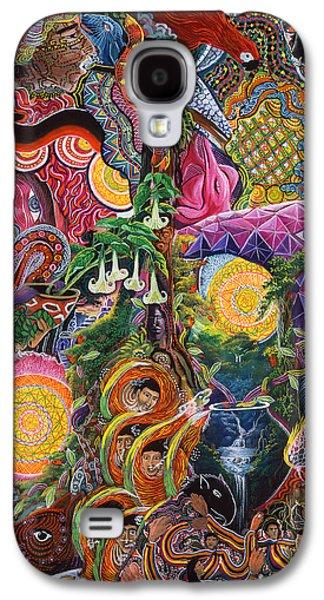 Visionary Paintings Galaxy S4 Cases - El Encanto de las Piedras Galaxy S4 Case by Pablo Amaringo