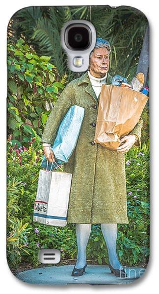 Statue Portrait Galaxy S4 Cases - Elderly Shopper Statue Key West - HDR Style Galaxy S4 Case by Ian Monk