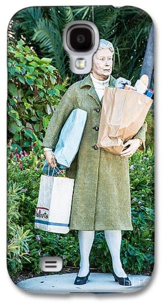 Statue Portrait Galaxy S4 Cases - Elderly Shopper Statue Key West Galaxy S4 Case by Ian Monk