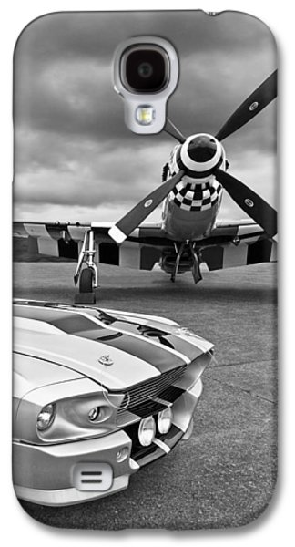 Eleanor Mustang With P51 Black And White Galaxy S4 Case by Gill Billington