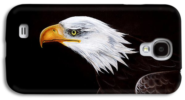 Eagle Paintings Galaxy S4 Cases - Eleanor the Eagle Galaxy S4 Case by Adele Moscaritolo