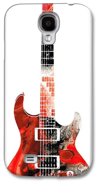 Music Mixed Media Galaxy S4 Cases - Electric Guitar - Buy Colorful Abstract Musical Instrument Galaxy S4 Case by Sharon Cummings