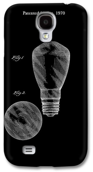 Electricity Drawings Galaxy S4 Cases - Electric Light Bulb Patent 1970 Galaxy S4 Case by Mountain Dreams