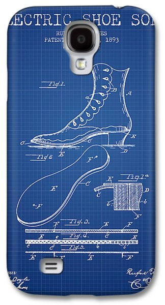 Shoe Digital Art Galaxy S4 Cases - Electric Shoe Sole Patent from 1893 - Blueprint Galaxy S4 Case by Aged Pixel