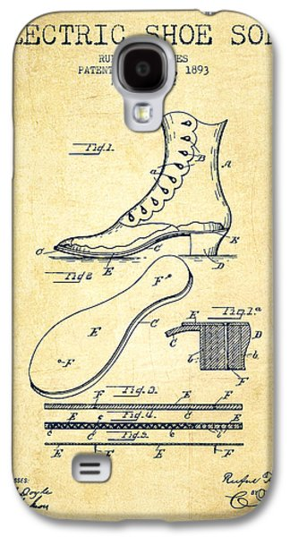 Shoe Digital Art Galaxy S4 Cases - Electric Shoe Sole Patent from 1893 - Vintage Galaxy S4 Case by Aged Pixel