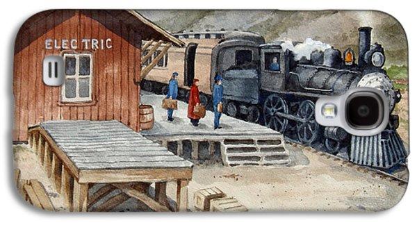 Transportation Ceramics Galaxy S4 Cases - Electric Station Yellowstone Spur Galaxy S4 Case by Dan Krapf