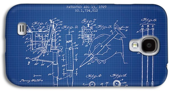 Tattoo Digital Art Galaxy S4 Cases - Electric Tattooing Device Patent From 1929 - Blueprint Galaxy S4 Case by Aged Pixel