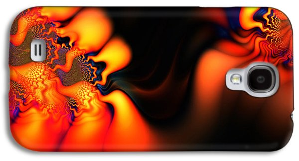 Algorithmic Abstract Galaxy S4 Cases - Electric Wave Galaxy S4 Case by Ian Mitchell