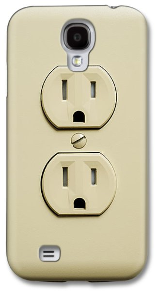 Electrical Component Photographs Galaxy S4 Cases - Electrical Outlet Galaxy S4 Case by Donald  Erickson