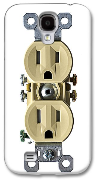 Outlet Galaxy S4 Cases - Electrical Outlet Isolated on White Galaxy S4 Case by Donald  Erickson