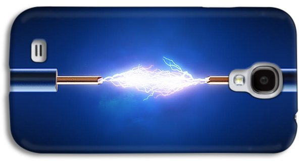 Equipment Galaxy S4 Cases - Electrical spark between  two insulated copper wires Galaxy S4 Case by Johan Swanepoel