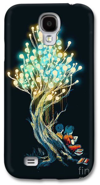 Light Bulb Galaxy S4 Cases - ElectriciTree Galaxy S4 Case by Budi Kwan