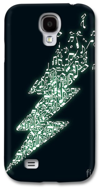 Lightning Digital Art Galaxy S4 Cases - Electro music Galaxy S4 Case by Budi Satria Kwan
