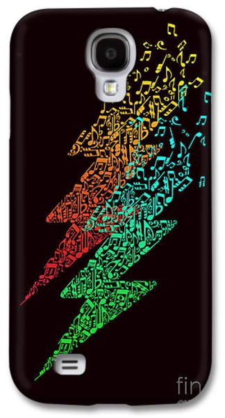 Lightning Digital Art Galaxy S4 Cases - Electronic music Galaxy S4 Case by Budi Satria Kwan