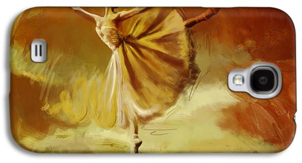 Ballet Dancers Paintings Galaxy S4 Cases - Elegance  Galaxy S4 Case by Corporate Art Task Force