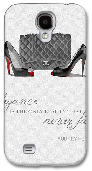 Elegance Never Fades Black And White Galaxy S4 Case by Rebecca Jenkins