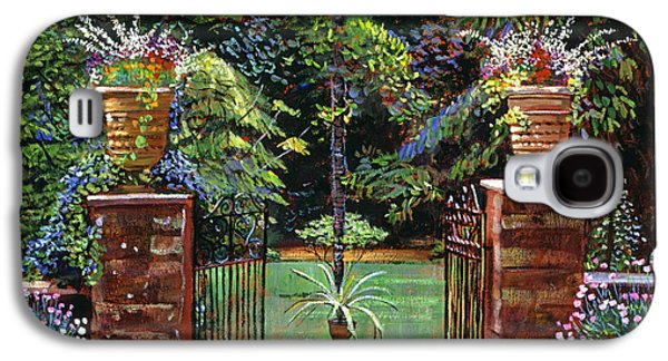 Gardenscapes Galaxy S4 Cases - Elegant English Garden Galaxy S4 Case by David Lloyd Glover