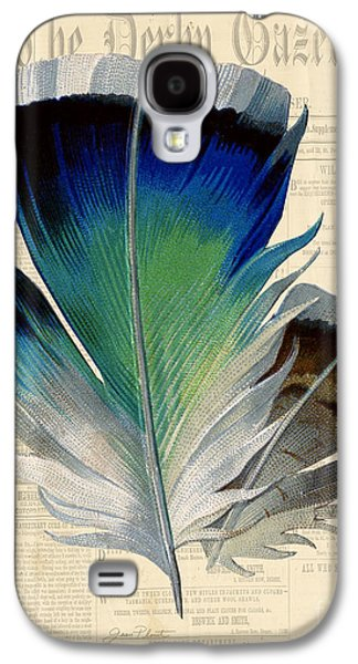 Nature Study Digital Art Galaxy S4 Cases - Elegant Feather-A Galaxy S4 Case by Jean Plout