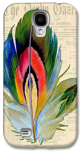 Nature Study Digital Art Galaxy S4 Cases - Elegant Feather-B Galaxy S4 Case by Jean Plout