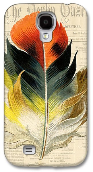 Nature Study Digital Art Galaxy S4 Cases - Elegant Feather-C Galaxy S4 Case by Jean Plout