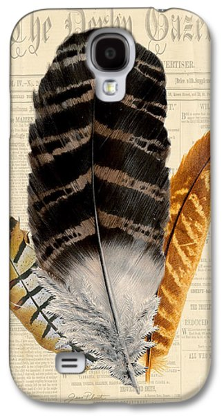 Nature Study Digital Art Galaxy S4 Cases - Elegant Feather-D Galaxy S4 Case by Jean Plout