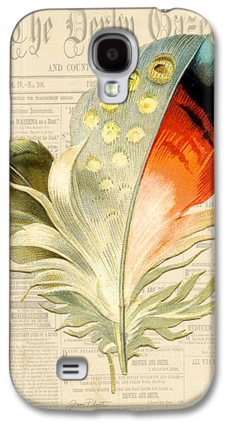 Nature Study Digital Art Galaxy S4 Cases - Elegant Feather-E Galaxy S4 Case by Jean Plout