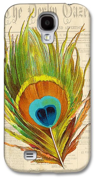 Nature Study Digital Art Galaxy S4 Cases - Elegant Feather-F Galaxy S4 Case by Jean Plout