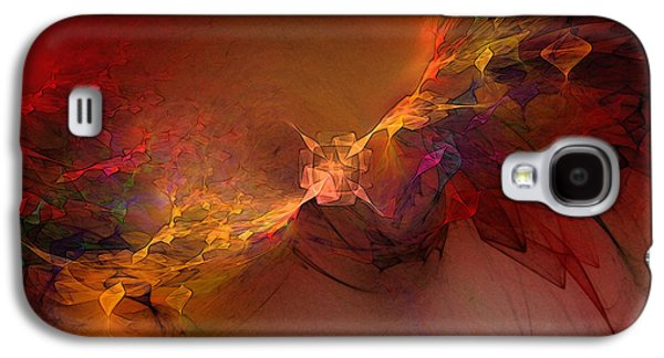 Best Sellers -  - Abstract Digital Mixed Media Galaxy S4 Cases - Elemental Force-Abstract Art Galaxy S4 Case by Karin Kuhlmann