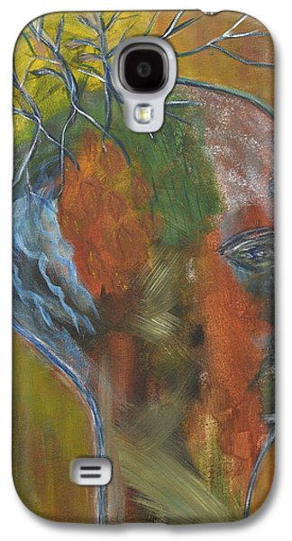 Macrocosm Paintings Galaxy S4 Cases - Elemental Galaxy S4 Case by Patricia Alexandra