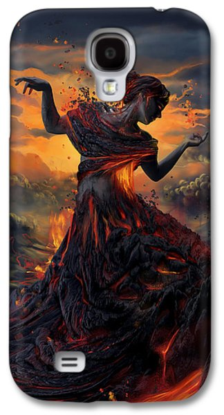 Digital Galaxy S4 Cases - Elements - Fire Galaxy S4 Case by Cassiopeia Art