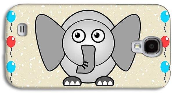 Girl Galaxy S4 Cases - Elephant - Animals - Art for Kids Galaxy S4 Case by Anastasiya Malakhova