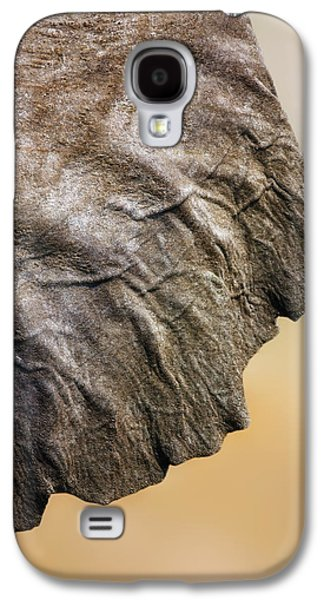 Textured Galaxy S4 Cases - Elephant ear close-up Galaxy S4 Case by Johan Swanepoel