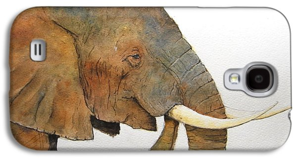 Nature Study Paintings Galaxy S4 Cases - Elephant head study Galaxy S4 Case by Juan  Bosco
