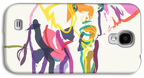 Recently Sold -  - Abstract Digital Digital Galaxy S4 Cases - Elephant in color ecru Galaxy S4 Case by Go Van Kampen
